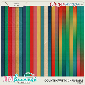 Countdown to Christmas Solids by Just Because Studio