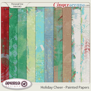 Holiday Cheer - Painted Papers by Aprilisa Designs