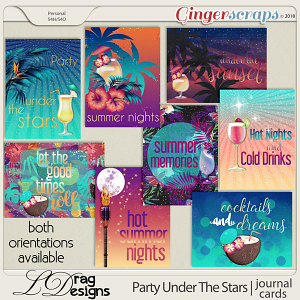 Party Under The Stars: Journal Cards by LDragDesigns