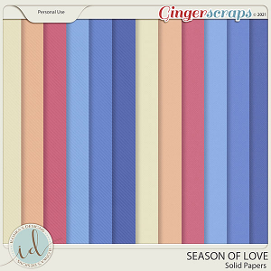 Season Of Love Solid Papers by Ilonka's Designs