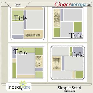 Simple Set 4 Templates by Lindsay Jane