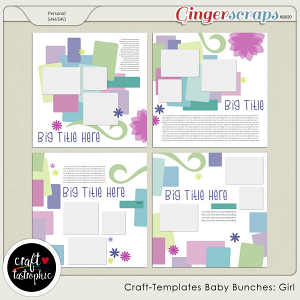Craft❤Templates Baby Bunches: Girl
