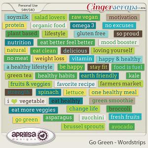Go Green - Wordstrips