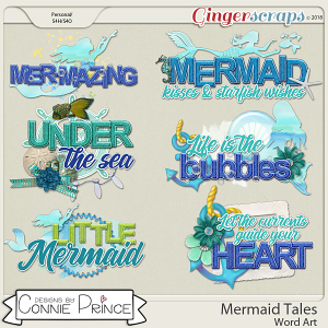 Mermaid Tales - Word Art Pack by Connie Prince