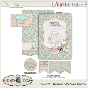 Sweet Dreams 1 Baby Shower Invitation by Scraps N Pieces