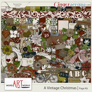 A Vintage Christmas Page Kit