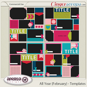 All Year {February} - Template Pack