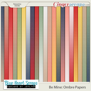 Be Mine Ombre Paper Pack