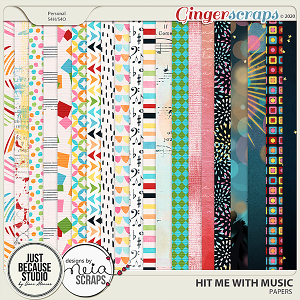 Hit Me With Music Papers by JB Studio and Neia Scraps