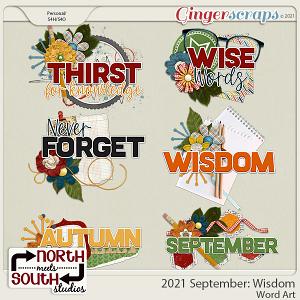2021 September: Wisdom Wordart by North Meets South Studios