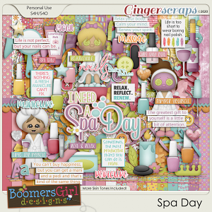 Spa Day by BoomersGirl Designs