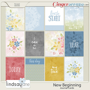 New Beginning Journal Cards by Lindsay Jane