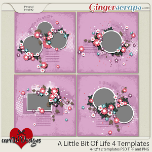 A Little Bit Of Life 4 Templates by CarolW Designs