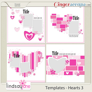 Templates - Hearts 3 by Lindsay Jane