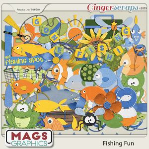 Fishing Fun ELEMENTS PACK by MagsGraphics