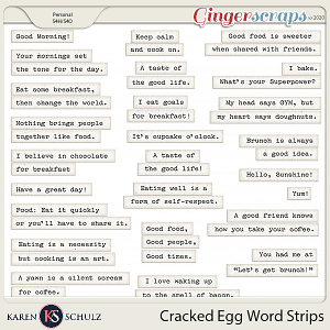 Cracked Egg Word Strips by Karen Schulz