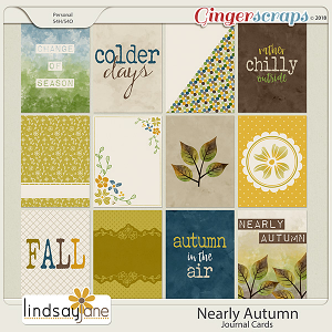 Nearly Autumn Journal Cards by Lindsay Jane