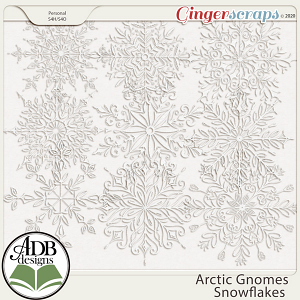 Arctic Gnomes Snowflakes by ADB Designs