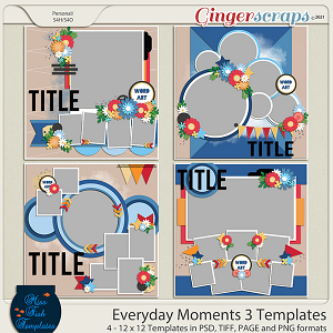 Everyday Moments 3 Templates by Miss Fish