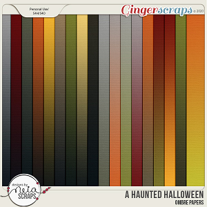 A Haunted Halloween - Ombre Papers - by Neia Scraps