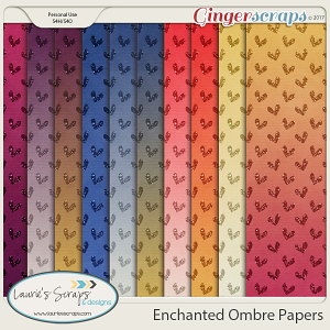 Enchanted Ombre Papers