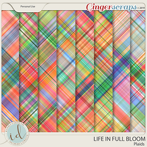 Life In Full Bloom Plaids by Ilonka's Designs