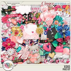 XOXO - Page Kit- by Neia Scraps