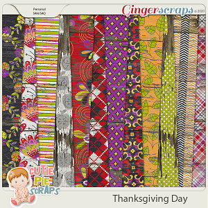 Thanksgiving Day-Wood Papers