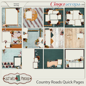 Country Roads Quick Pages by Scraps N Pieces