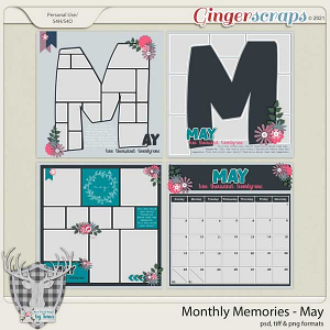 Monthly Memories - May by Dear Friends Designs by Trina