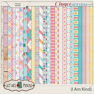 I Am Kind Papers by Scraps N Pieces