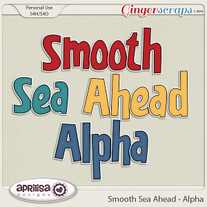 Smooth Sea Ahead - Alpha by Aprilisa Designs