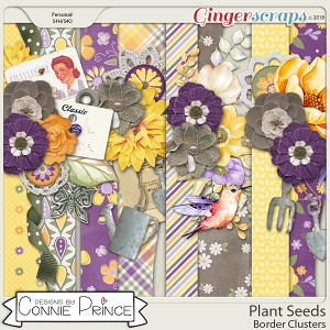 Plant Seeds - Border Clusters by Connie Prince