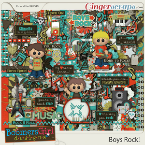 Boys Rock! by BoomersGirl Designs
