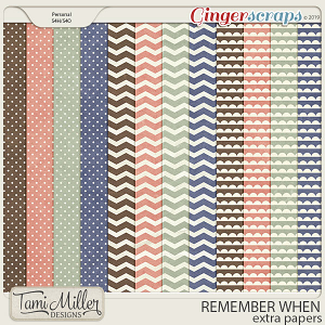 Remember When Extra Papers by Tami Miller Designs