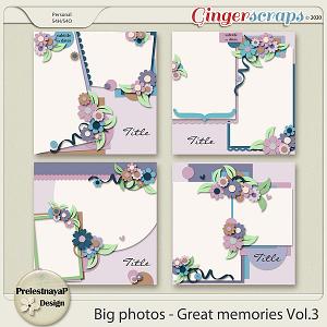 Big photos - Great memories Templates Vol.3