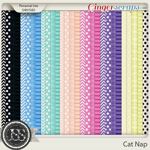 Cat Nap Pattern Papers