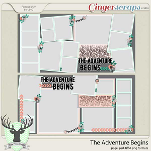 The Adventure Begins by Dear Friends Designs