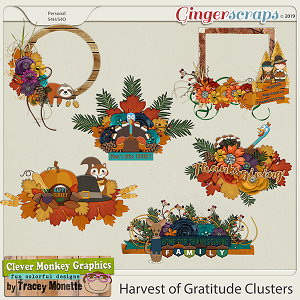 Harvest of Gratitude Clusters by Clever Monkey Graphics