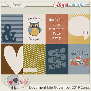 Document Life November 2019 Cards by Luv Ewe Designs