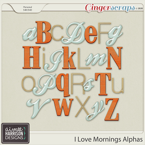 I Love Mornings Alpha Sets by Aimee Harrison