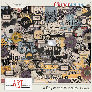 A Day at the Museum Page Kit