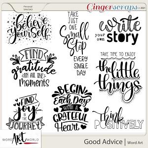 Good Advice Word Art