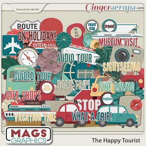 The Happy Tourist ELEMENTS by MagsGraphics