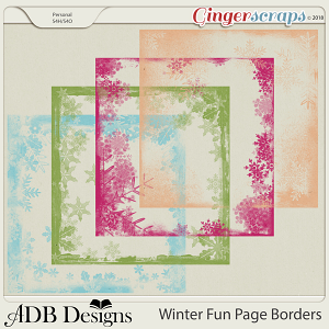 Winter Fun Page Borders by ADB Designs
