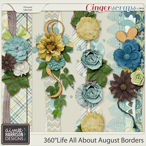 360°Life All About August Borders by Aimee Harrison