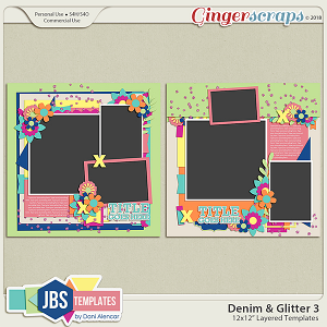 Denim & Glitter Templates 3 by JB Studio