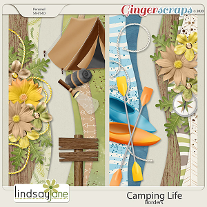 Camping Life Borders by Lindsay Jane