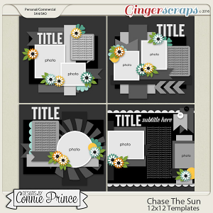 Chase The Sun  - 12x12 Templates (CU OK)