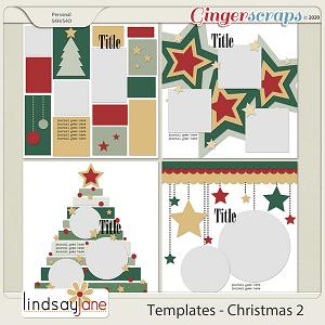 Templates - Christmas 2 by Lindsay Jane